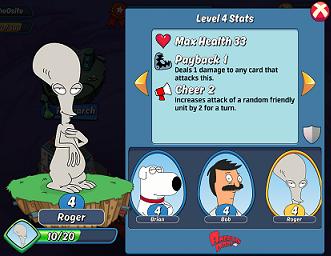 Animation Throwdown Hero Screen