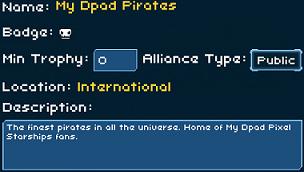 My Dpad Pirates Pixel Starships Alliance